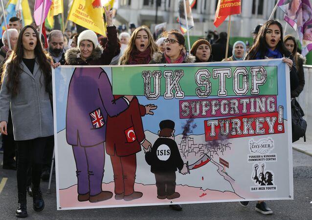 Une manifestation pro-kurde à Londres (archives)