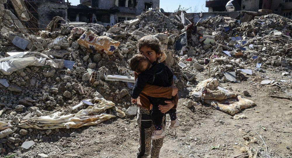 Enfants de la guerre. Image d'illustration
