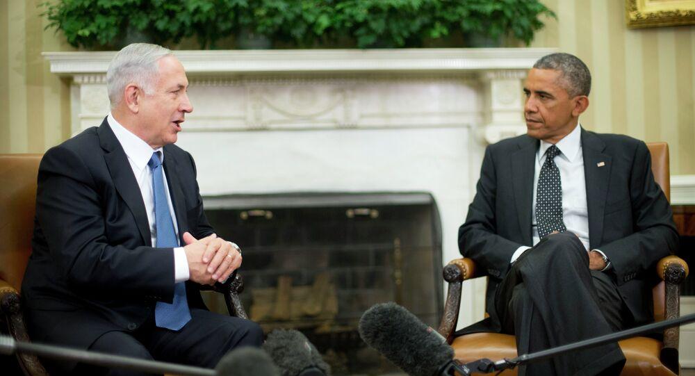 Renconte entre Barack Obama et Benjamin Netanyahu dans le Bureau ovale de la Maison Blanche en 2014