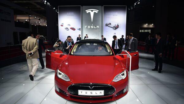 Une voiture Tesla Model S - Sputnik France