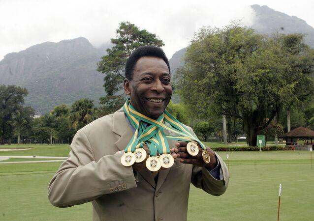 Le légendaire joueur de football Pelé. Archive photo