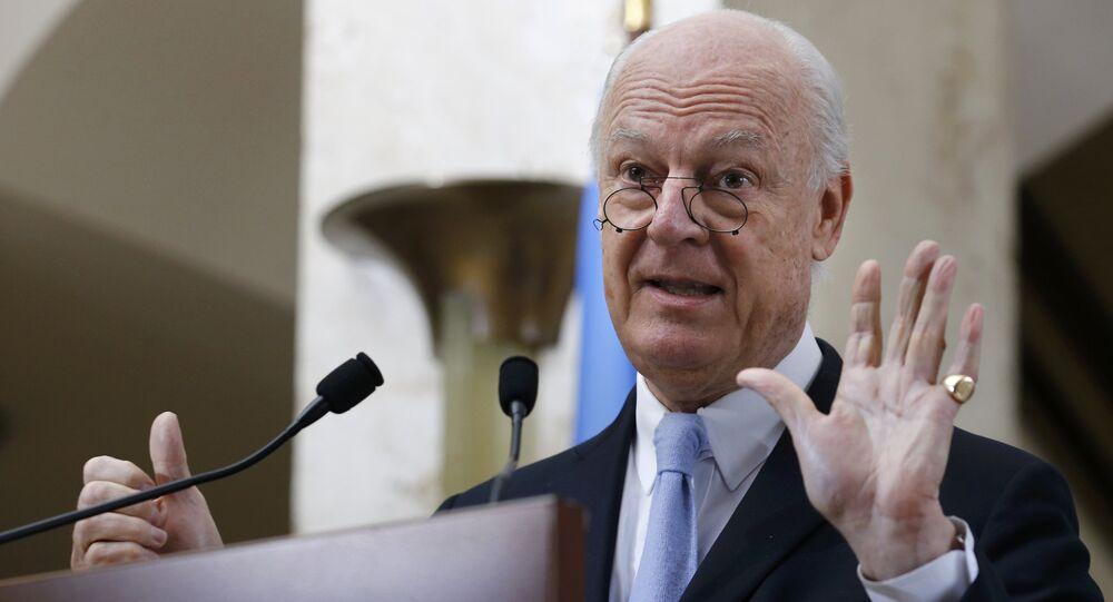 L'envoyé spécial de l'Onu pour la Syrie Staffan de Mistura