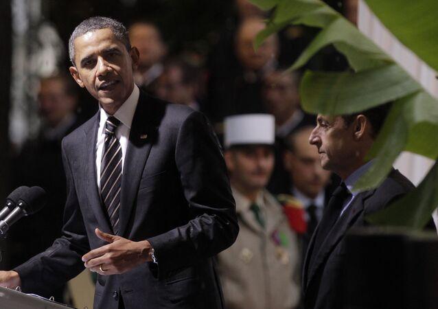 Barack Obama et Nicolas Sarkozy. Archive photo