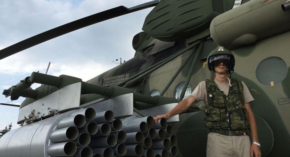 Un pilote russe à l'aéroport de Hmeimim