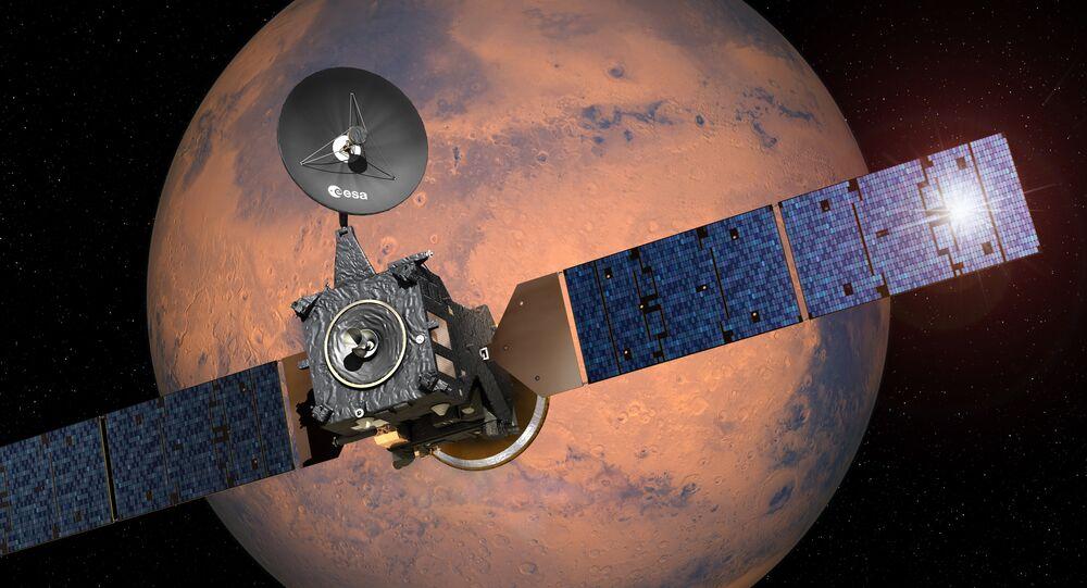 La sonde TGO dotée d'instruments russes s'approche de Mars