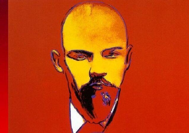 Lénine rouge par Andy Warhol