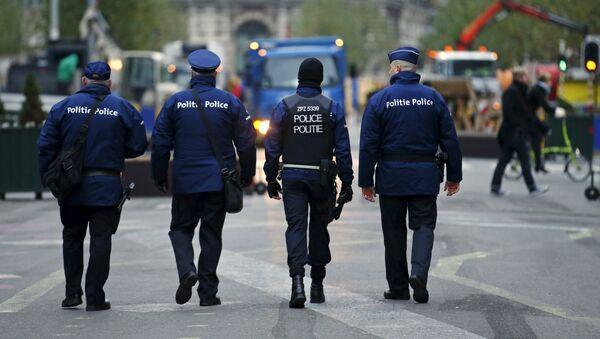 La police belge au centre de Bruxelles - Sputnik France