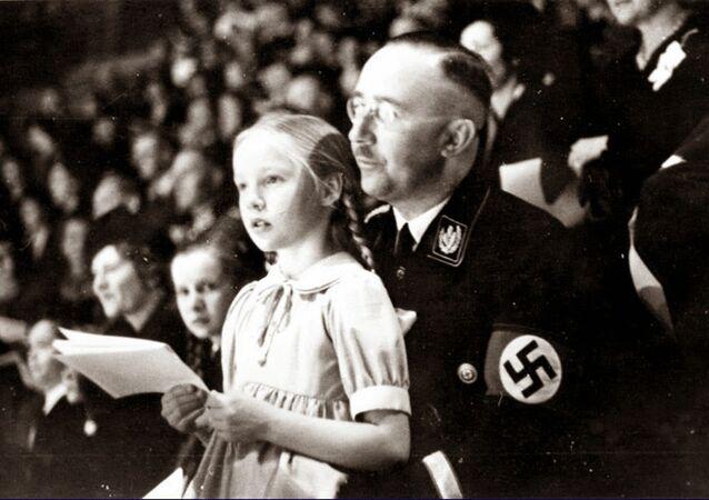 Himmler et sa fille, 1938