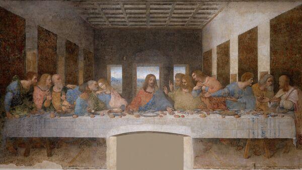 La Cène par Léonard de Vinci (1495-1498), église Santa Maria delle Grazie de Milan - Sputnik France