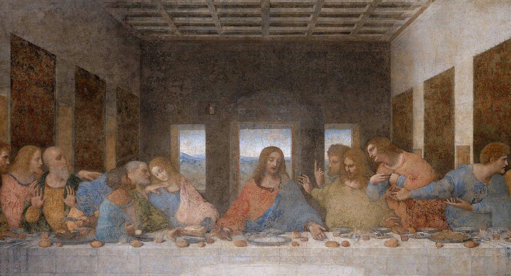 La Cène par Léonard de Vinci (1495-1498), église Santa Maria delle Grazie de Milan
