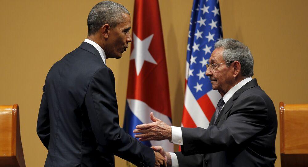Barack Obama et Raul Castro