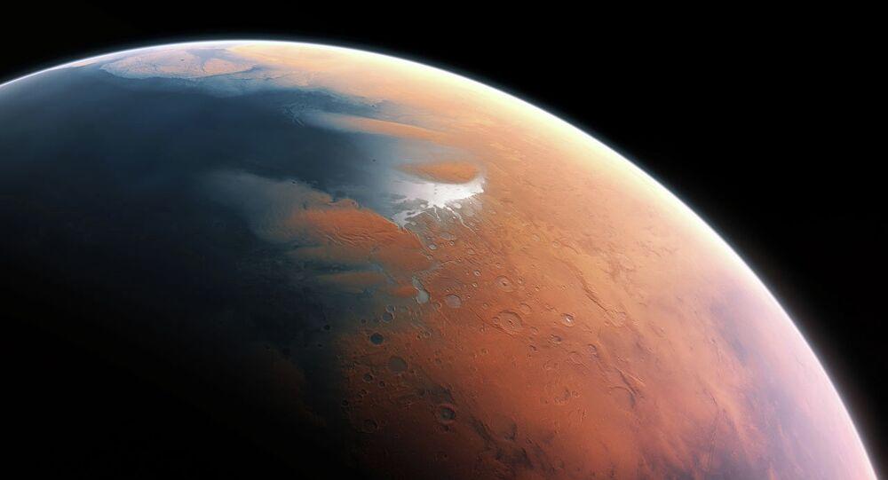Vue d'artiste de Mars il y a quatre milliards d'années