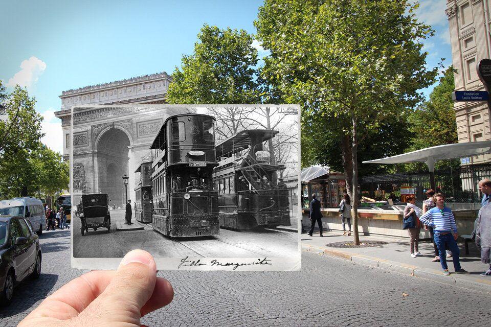 Paris. Fenêtres sur l'Histoire. Avenue de Friesland. 1909.