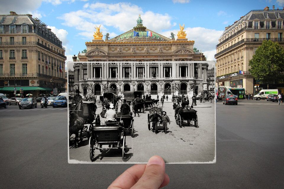 Paris. Fenêtres sur l'Histoire. Place de l'Opéra. 1900.