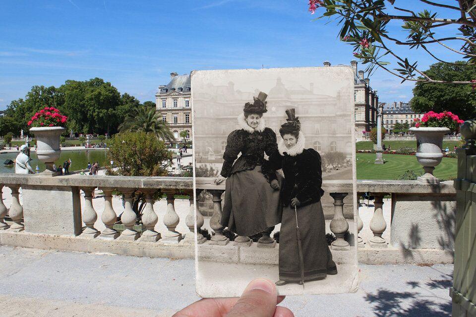 Paris. Fenêtres sur l'Histoire. Jardin du Luxembourg. 1895.