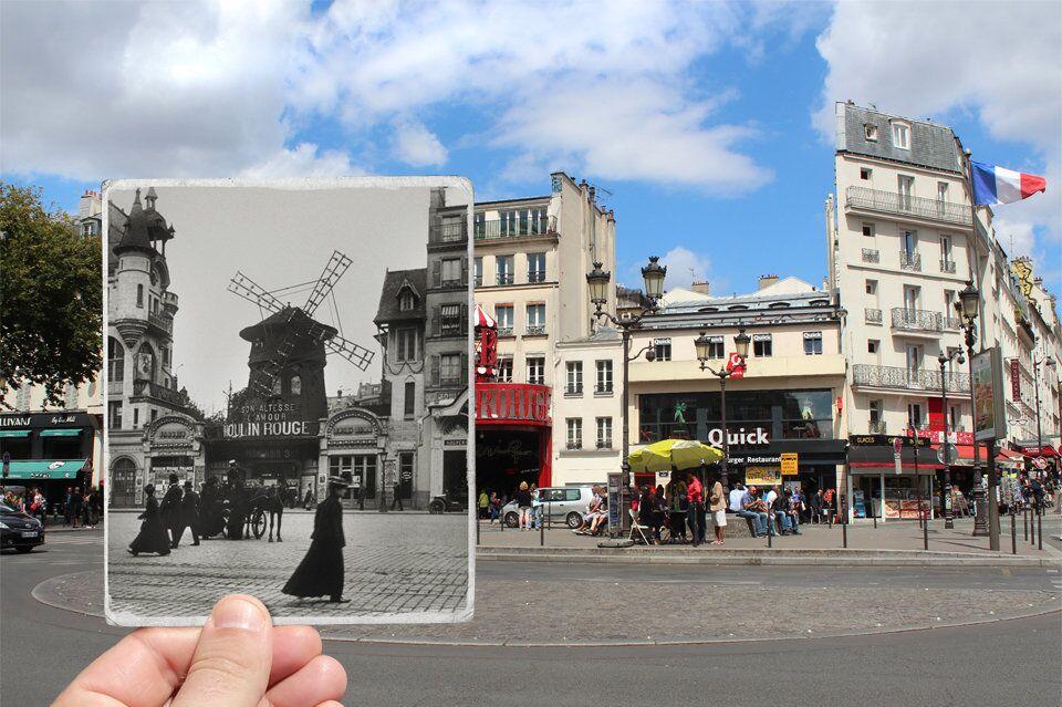 Paris. Fenêtres sur l'Histoire. Boulevard de Clichy. 1900.