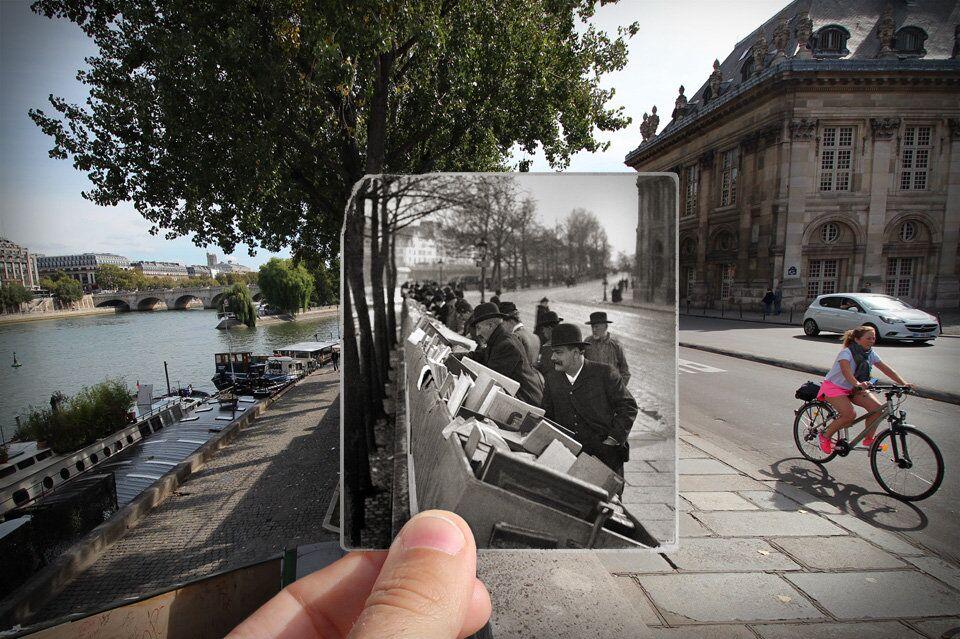 Paris. Fenêtres sur l'Histoire. Quai de Conti. 1900.