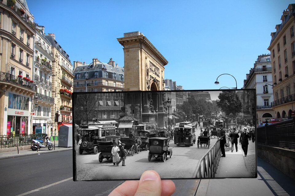 Paris. Fenêtres sur l'Histoire. Boulevard Saint-Denis. 1910