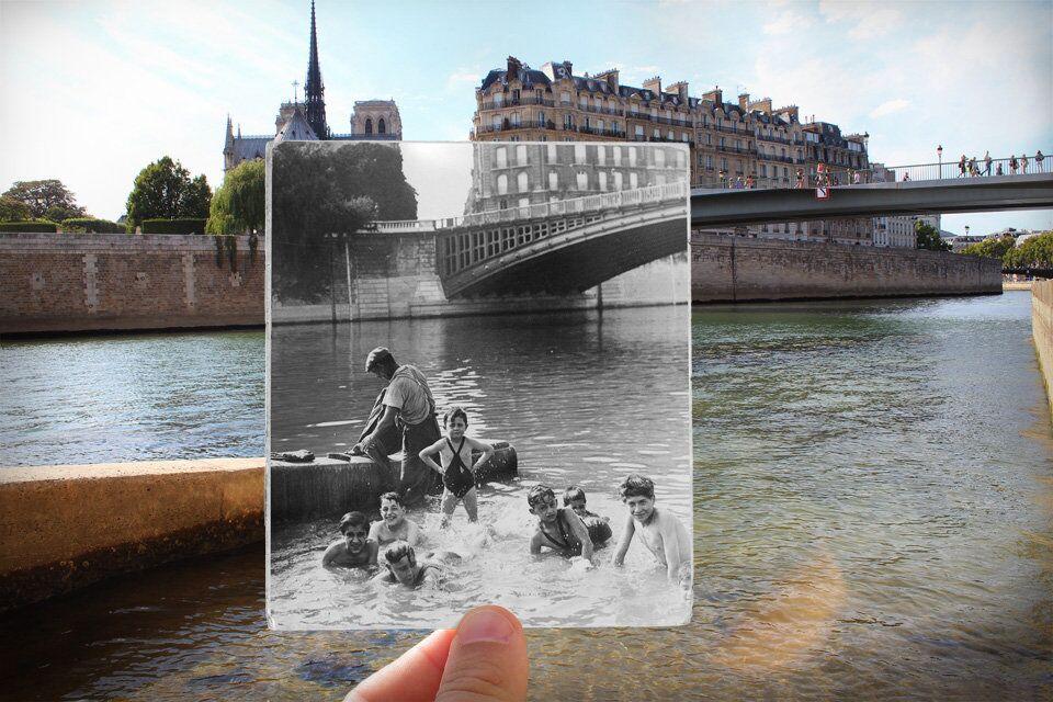 Paris. Fenêtres sur l'Histoire. Quai d'Orléans. 1930.