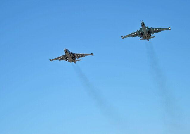 L'aviation de combat russe sur la base aérienne de Hmeimim en Syrie