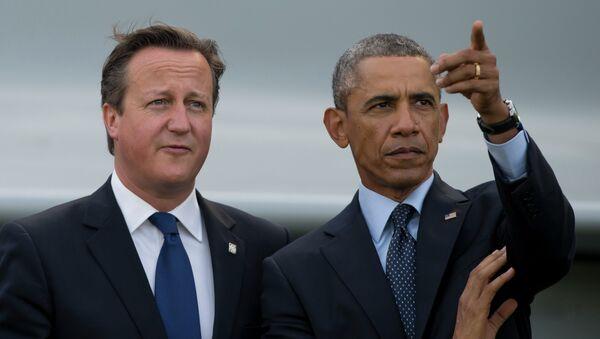 Barack Obama et à David Cameron - Sputnik France