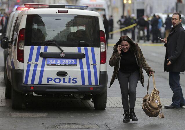 Sur les lieux de l'attentat-suicide à Istanbul