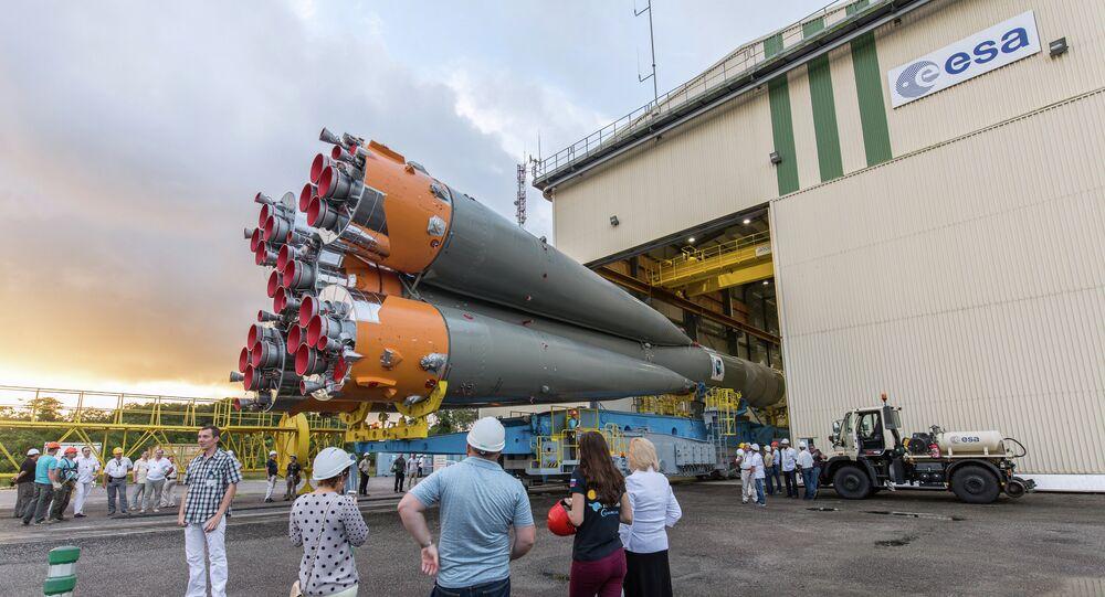 Fusée russe Soyouz au Centre spatial guyanais (CSG) de Kourou