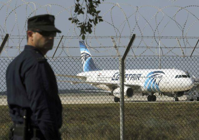 Un avion d'EgyptAir effectuant le vol Paris-Le Caire après le vol disparu MS804