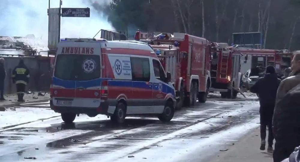 Violente explosion à la frontière entre l'Allemagne et la Pologne
