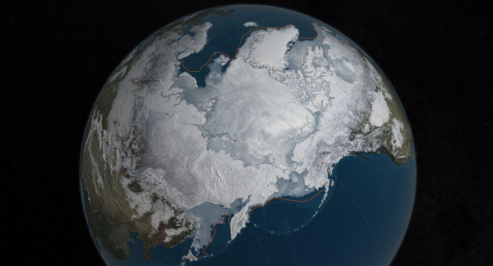 Les glaces arctiques en mars 2016