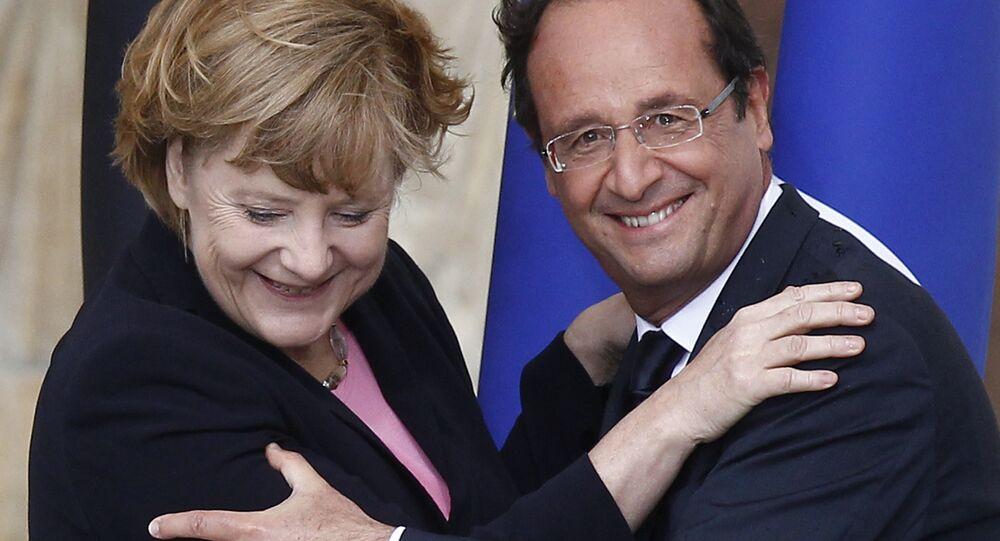 la chancelière Angela Merkel et le président français François Hollande
