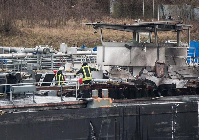 Allemagne: explosion sur un cargo pétrolier