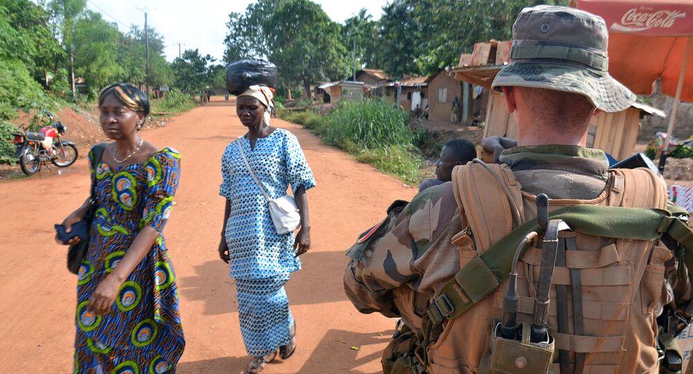 Soldat français en Centrafrique. Image d'illustration