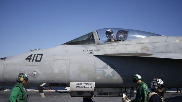 Un chasseur F/A-18 Super Hornet - Sputnik France