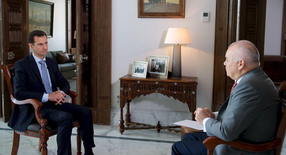 Le président syrien Bachar el-Assad donne une interview à Sputnik