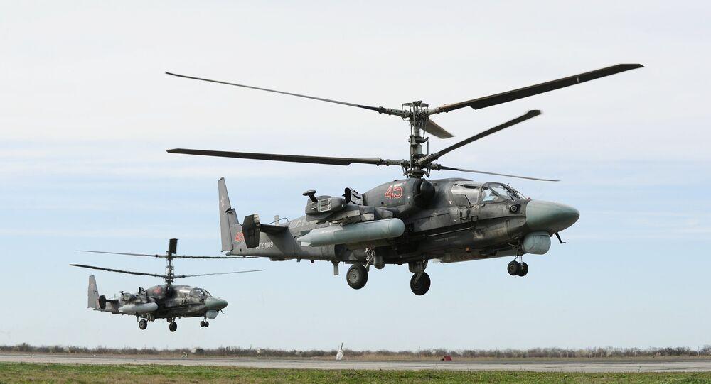 Les hélicoptères Ka-52 Alligator multirôles tous temps