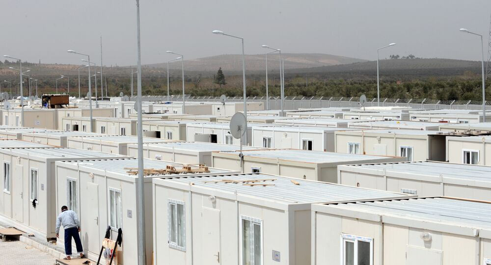 un complexe pour réfugiés syriens