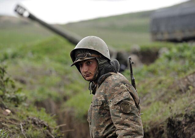 Situation dans la zone du conflit du Haut-Karabakh, image d'illustration