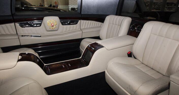 L'intérieur de la limousine