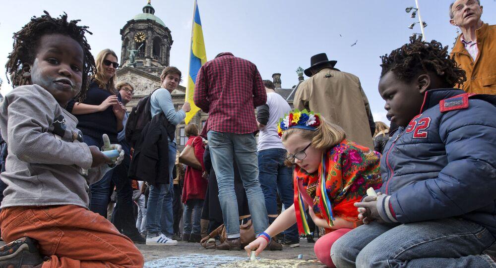 Le jour du référendum sur l'accord d'association UE-Ukraine aux Pays-Bas