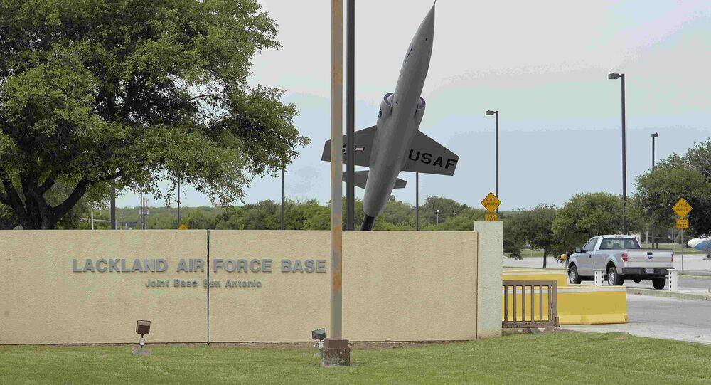 La base aérienne américaine de Lackland à San Antonio, au Texas, Avril 8, 2016.