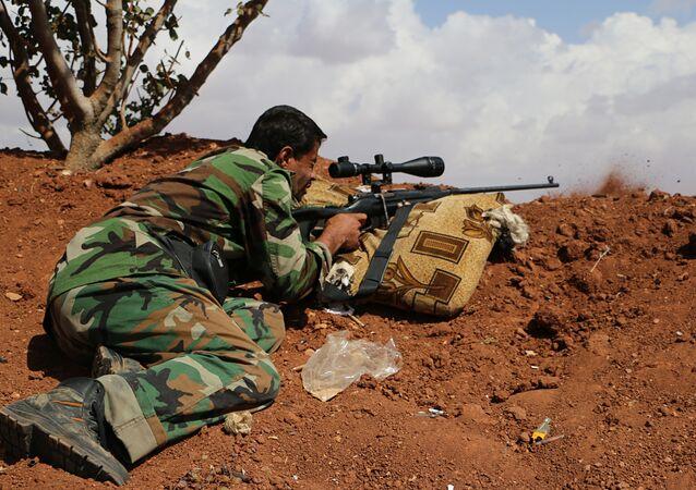 Un combattant de l'Armée syrienne libre (ASL)