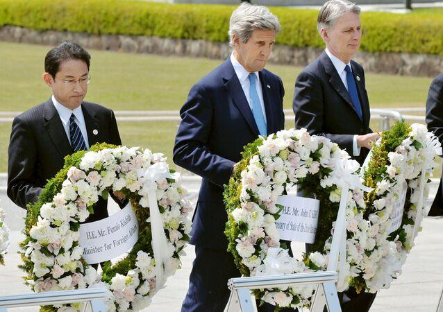 Le secrétaire d'Etat américain John Kerry à Hiroshima
