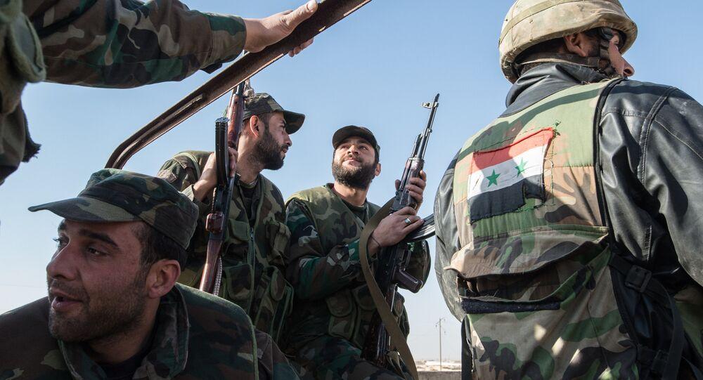 les forces fidèles au gouvernement de Damas