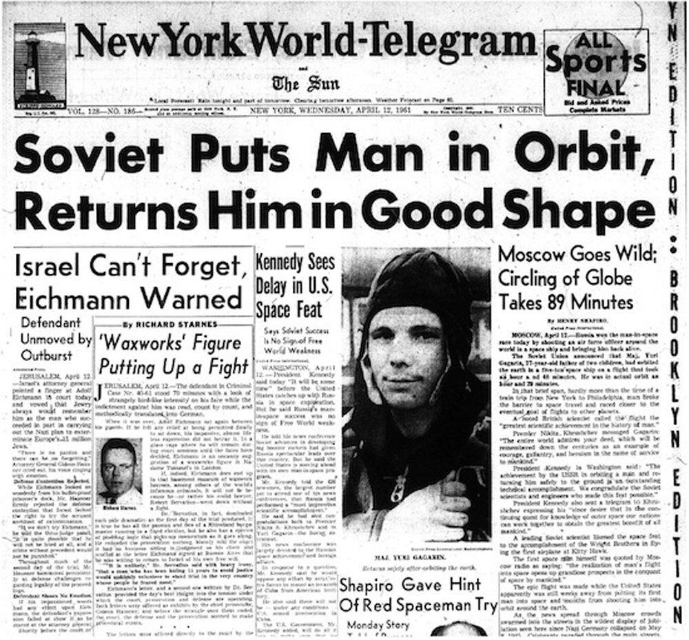 Comment le vol de Gagarine a subjugué la presse mondiale