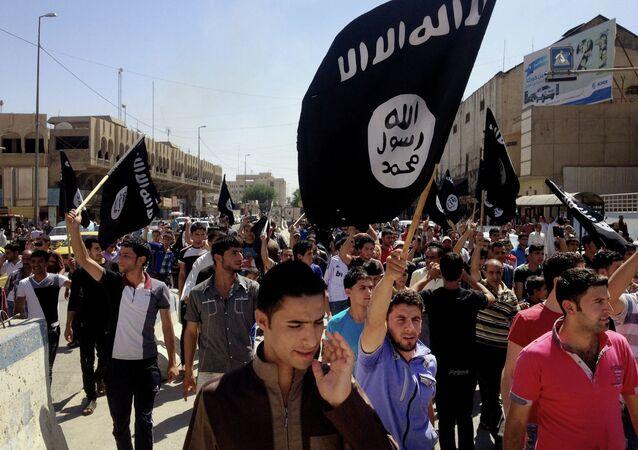 Sympathisants du groupe djihadiste Etat islamique (Daech)