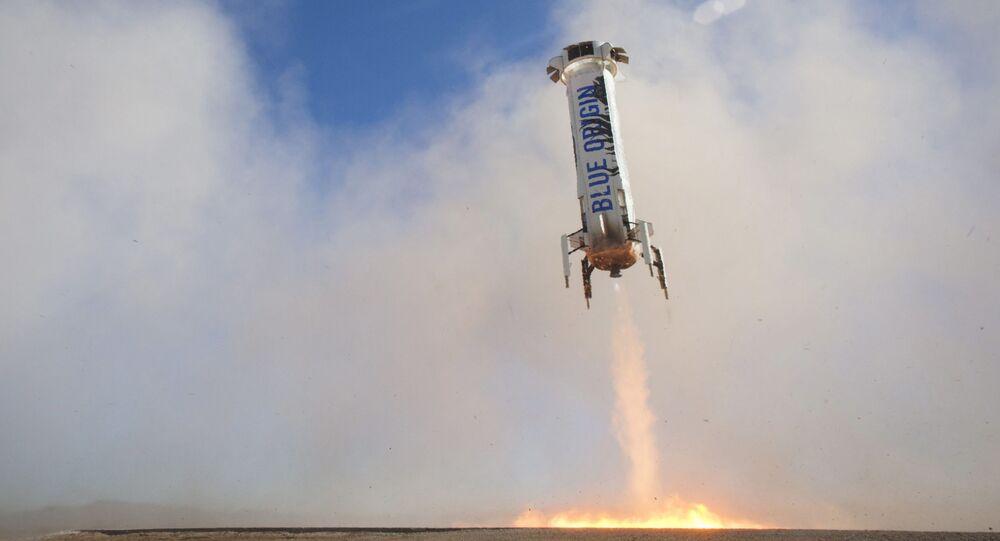 L'atterrissage d'une fusée New Shepard