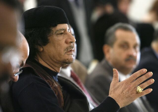 Leader of the Socialist People's Libyan Arab Jamahiriya Muammar Gaddafi