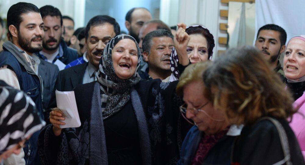 Bureau de vote à Alep