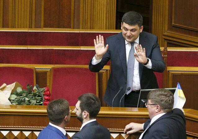 Vladimir Groïssman et les députés de la Rada suprême